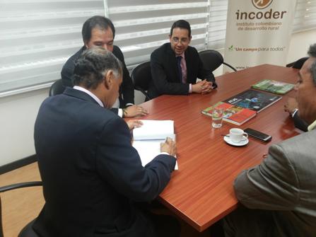 Incoder y Gobernación del Tolima firman acuerdo. Cortesía: Incoder