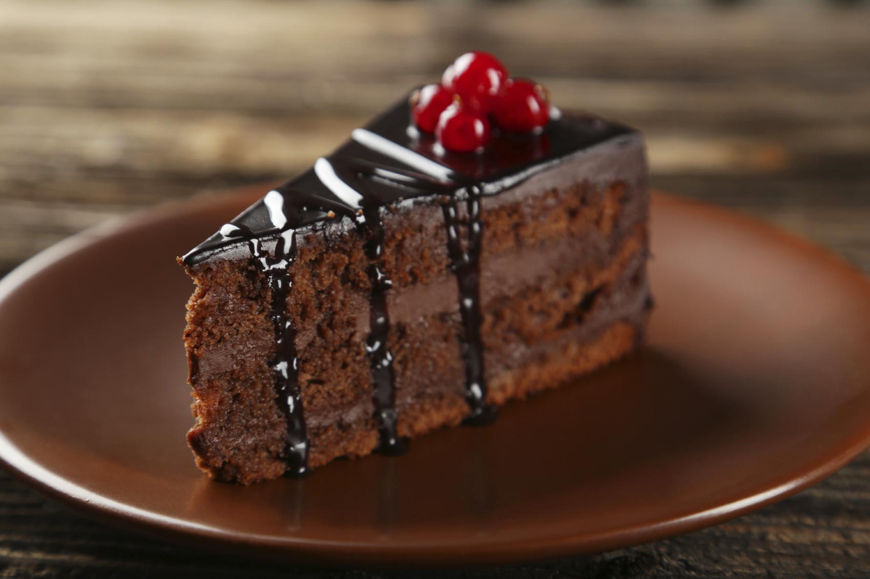 Bizcocho de chocolate con caña de azúcar
