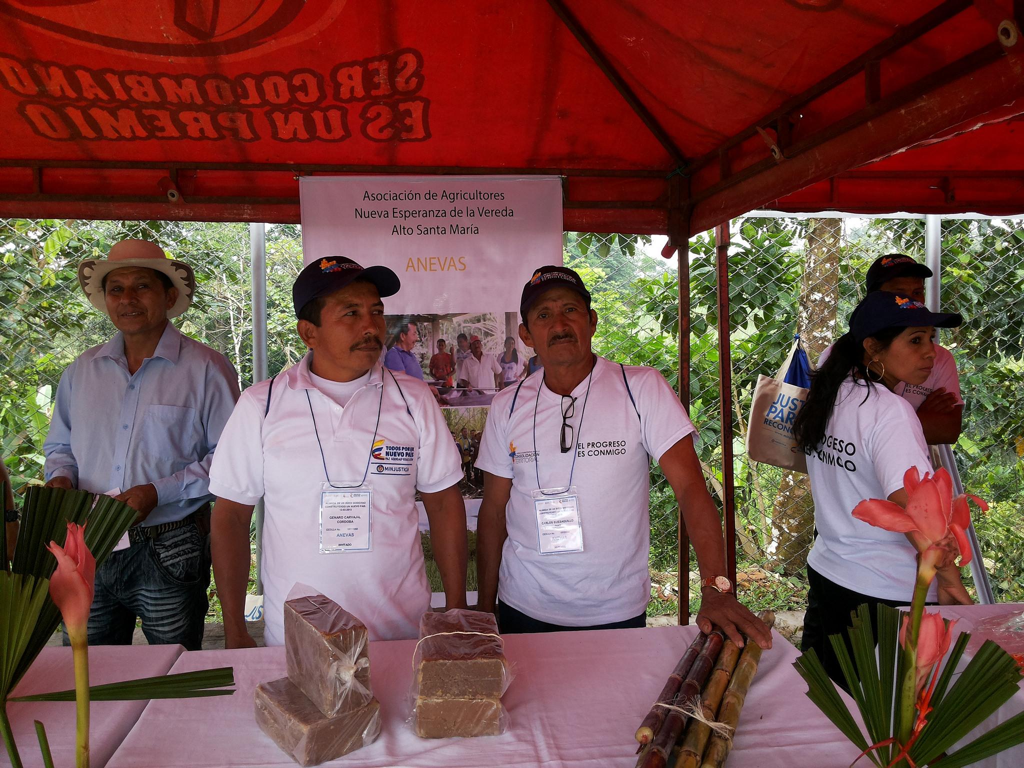 Agricultores que cambiaron los cultivos de coca por otros productos